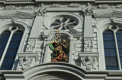 Hofkirche church in detail Royalty Free Stock Images