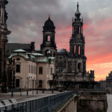 Hofkirche church in Dresden, Saxony, Germany Stock Photo
