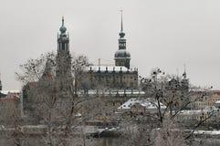 Hofkirche a Dresda, Germania Fotografie Stock Libere da Diritti