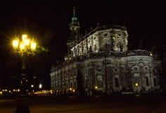 Hofkirche Dresde Photos libres de droits