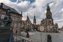hofkirche dresden стоковое фото
