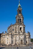 The Hofkirche in Dresden Stock Photography