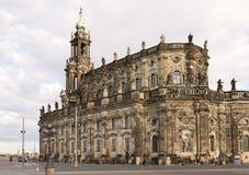 Hofkirche in Dresden Stock Foto's
