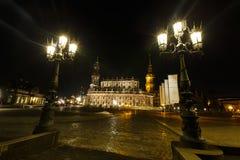 Hofkirche in Dresden Stock Afbeeldingen