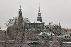 Hofkirche in Dresden, Duitsland Royalty-vrije Stock Foto's