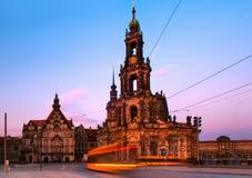 The Hofkirche in Dresden, Germany Stock Photos