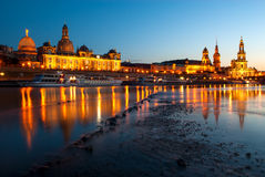 The Hofkirche and Frauenkirche in Dresden, Germany Royalty Free Stock Photo
