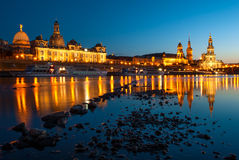 The Hofkirche and Frauenkirche in Dresden, Germany Royalty Free Stock Photography