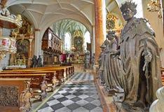 Hofkirche (Hof Kerk) in Innsbruck, Oostenrijk Royalty-vrije Stock Afbeelding