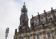 Hofkirche lub Katedra Święta Trójca - w Dresden barokowy kościół, Sachsen, Niemcy Fotografia Royalty Free
