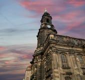 Hofkirche lub Katedra Święta Trójca - w Dresden barokowy kościół, Sachsen, Niemcy Obraz Royalty Free