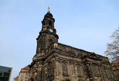 Hofkirche lub Katedra Święta Trójca - w Dresden barokowy kościół, Sachsen, Niemcy Obrazy Stock