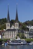 Hofkirche - Lucerne - Switzerland Stock Image