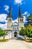 Hofkirche, Luzern, Switzerland Stock Photography
