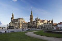 Hofkirche och Residenzschloss i Dresden, Tyskland Royaltyfri Fotografi
