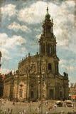 Hofkirche w Drezdeńskim - rocznik Zdjęcia Stock