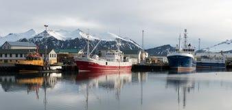 Hofn Fishing Harbor, Iceland Royalty Free Stock Photos