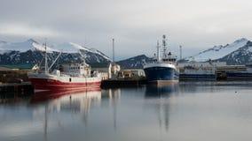 Hofn Fishing Harbor, Iceland Stock Photo