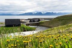 Hofsos é um centro de troca velho, Islândia Foto de Stock