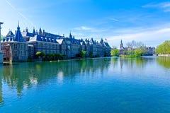 Hofvijver and Binnenhof,  Hague, Netherlands Royalty Free Stock Images