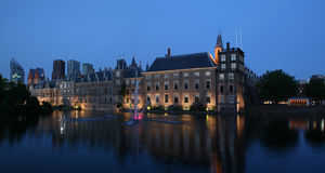 Hofvijver by night royalty free stock images