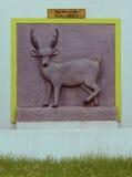 Hog deer engraving Stock Photography