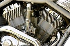 Hog Engine. Shiny chrome-covered motorcycle engine Royalty Free Stock Image
