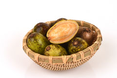 Hog Plum (Spondias pinnata (Lf) Kurz) wild fruits. Stock Images