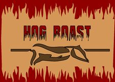 Hog roast Stock Image