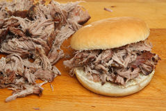 Hog Roast or Pulled Pork Roll Royalty Free Stock Images