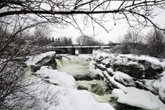 Hog's Back Falls in Ottawa, Canada in Winter Stock Images