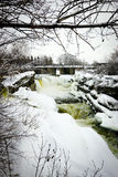 Hog's Back Falls in Ottawa, Canada in Winter. Royalty Free Stock Image