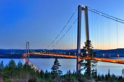 Hoga Kusten bridge Royalty Free Stock Photos