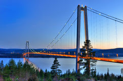 Hoga kusten el puente Fotos de archivo libres de regalías