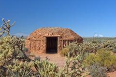 hogan casa indiana indigena navajo fotografia stock