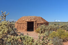 Hogan, traditional dwelling of the Navajo people Royalty Free Stock Photo