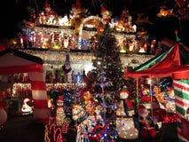 Hogar adornado de la Navidad Fotografía de archivo