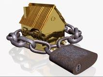 Hogar bloqueado del oro ilustración del vector