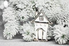 Hogar caliente del árbol de navidad Imagen de archivo