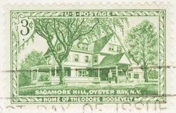 Hogar de 1953 sellos de Theodore Roosevelt Foto de archivo libre de regalías