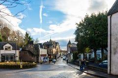 Hogar de Dunblane Escocia de la calle principal de Andy Murray fotos de archivo libres de regalías