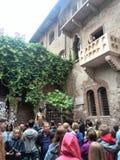 Hogar de Juliet en Verona fotos de archivo