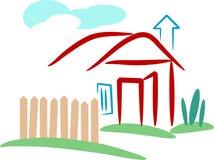 Hogar de la aldea stock de ilustración