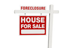 Hogar de la ejecución de una hipoteca para la muestra de las propiedades inmobiliarias de la venta Fotos de archivo libres de regalías