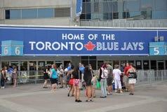 Hogar de la muestra de los Toronto Blue Jays Fotos de archivo libres de regalías