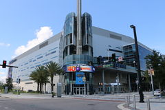Hogar de la muestra del centro de Amway de Orlando de Orlando Magic Fotos de archivo libres de regalías
