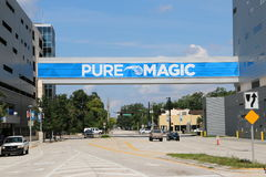 Hogar de la muestra del centro de Amway de Orlando de Orlando Magic Imágenes de archivo libres de regalías