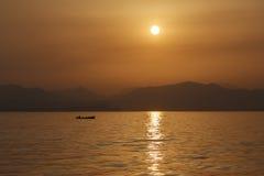 Hogar de la navegación del pescador Imagen de archivo libre de regalías