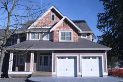 Hogar de la nueva casa para la venta Canadá Fotografía de archivo