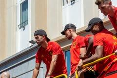 Hogar de la parte posterior del equipo de fútbol de Bélgica fotografía de archivo